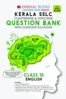 Oswaal Kerala SSLC Question Bank Class 10 English Chapterwise   Topicwise  For March 2020 Exam  PDF