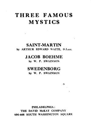 Three Famous Mystics