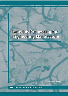 Materials Processing for Engineering Manufacture PDF