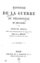 Histoire de la guerre du Péloponèse de Thucydide