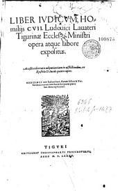 Liber Judicum, homiliis CVII