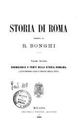 Storia di Roma: 2: Cronologia e fonti della storia romana, Volume 2