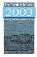 The Elections in Israel 2003 PDF
