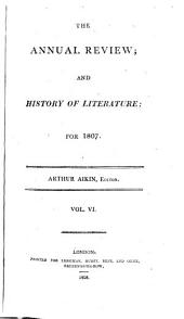 The Annual Review, and History of Literature: Volume 6, Issue 1