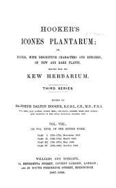 Hooker's Icones Plantarum: Volume 18
