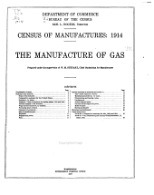 Census of Manufactures: 1914: The Manufacture of Gas