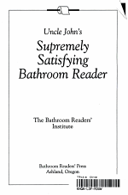 Uncle John's Supremely Satisfying Bathroom Reader