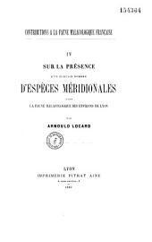 Contribution à la faune malacologique française