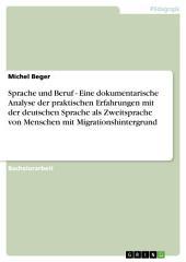 Sprache und Beruf - Eine dokumentarische Analyse der praktischen Erfahrungen mit der deutschen Sprache als Zweitsprache von Menschen mit Migrationshintergrund
