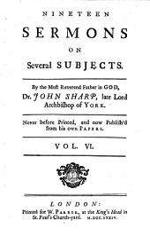 Nineteen Sermons on Several Subjects