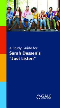 A Study Guide for Sarah Dessen s  Just Listen  PDF