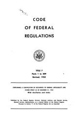Code of Federal Regulations: 1949-1984