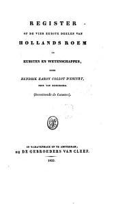 Holland's roem in kunsten en wetenschappen: met aanteekeningen en bijdragen, Volume 10