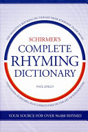 Schirmer s Complete Rhyming Dictionary for Songwriters PDF