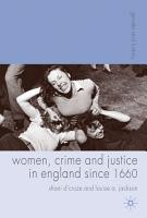 Women  Crime and Justice in England Since 1660 PDF
