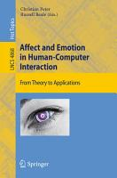 Affect and Emotion in Human Computer Interaction PDF