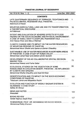 Pakistan Journal of Geography PDF