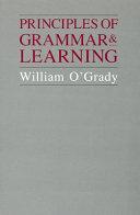 Principles of Grammar & Learning