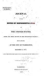 Journal of the House of Representatives of the United States: Volume 20, Issue 1
