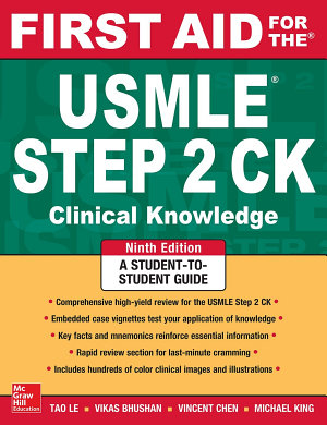 First Aid for the USMLE Step 2 CK  Ninth Edition PDF