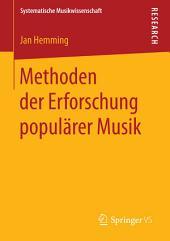 Methoden der Erforschung populärer Musik