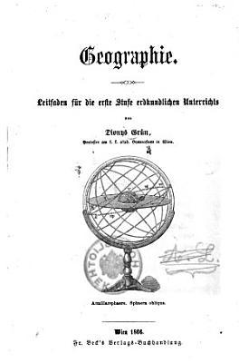 Geographie  Leitfaden f  r die erste Stufe erdkundlichen Unterrichts PDF