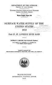 Water-supply Paper: Issues 404-408