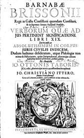 De verborum, quae ad ius pertinent significatione libri XIX
