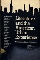Literature   the American Urban Experience PDF