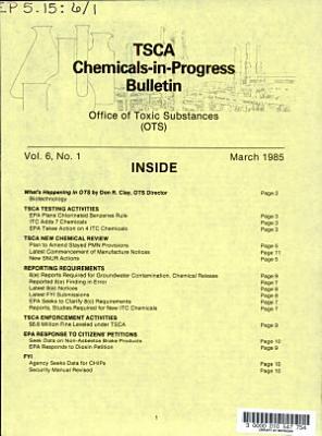 TSCA Chemicals-in-progress Bulletin