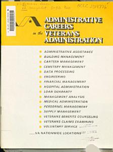 Administrative Careers in the Veterans Administration
