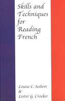 Skills and Techniques for Reading French PDF