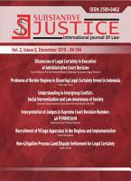 Substantive Justice International Journal of Law PDF