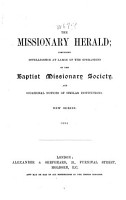 The Missionary Herald of the Baptist Missionary Society PDF