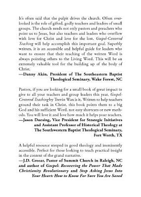 Gospel Centered Teaching