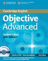 Objective Advanced Student s Book with Answers with CD ROM PDF