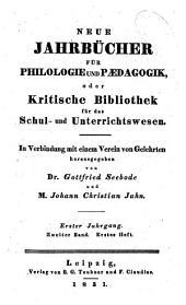 Neue Jahrbücher für Philologie und Paedagogik: Band 2