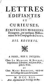 Lettres edifiantes et curieuses: ecrite des missions etrangères, Volume12