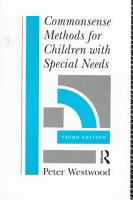 Commonsense Methods for Children with Special Needs PDF