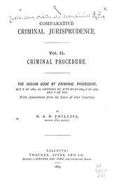 Comparative Criminal Jurisprudence: Volume 2
