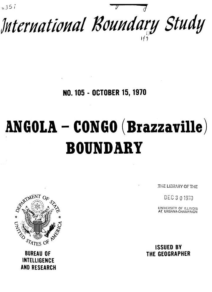 International Boundary Study