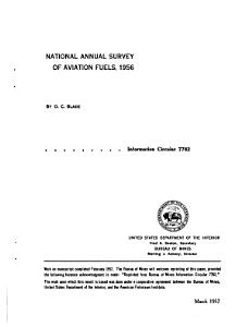 National Annual Survey of Aviation Fuels  1956