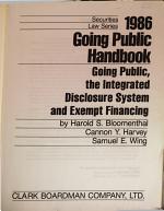 1986 Going Public Handbook