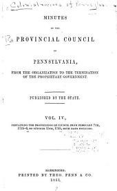 Colonial Records of Pennsylvania: Volume 4; Volume 1851