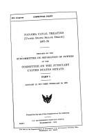 Panama Canal Treaties PDF