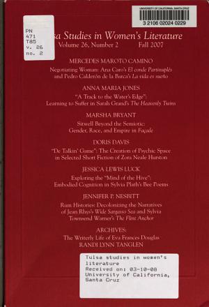 Tulsa Studies in Women s Literature PDF