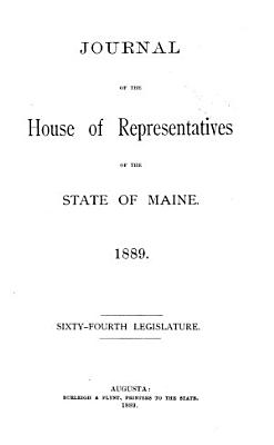 Journal of the House of Representatives of the State of Maine PDF