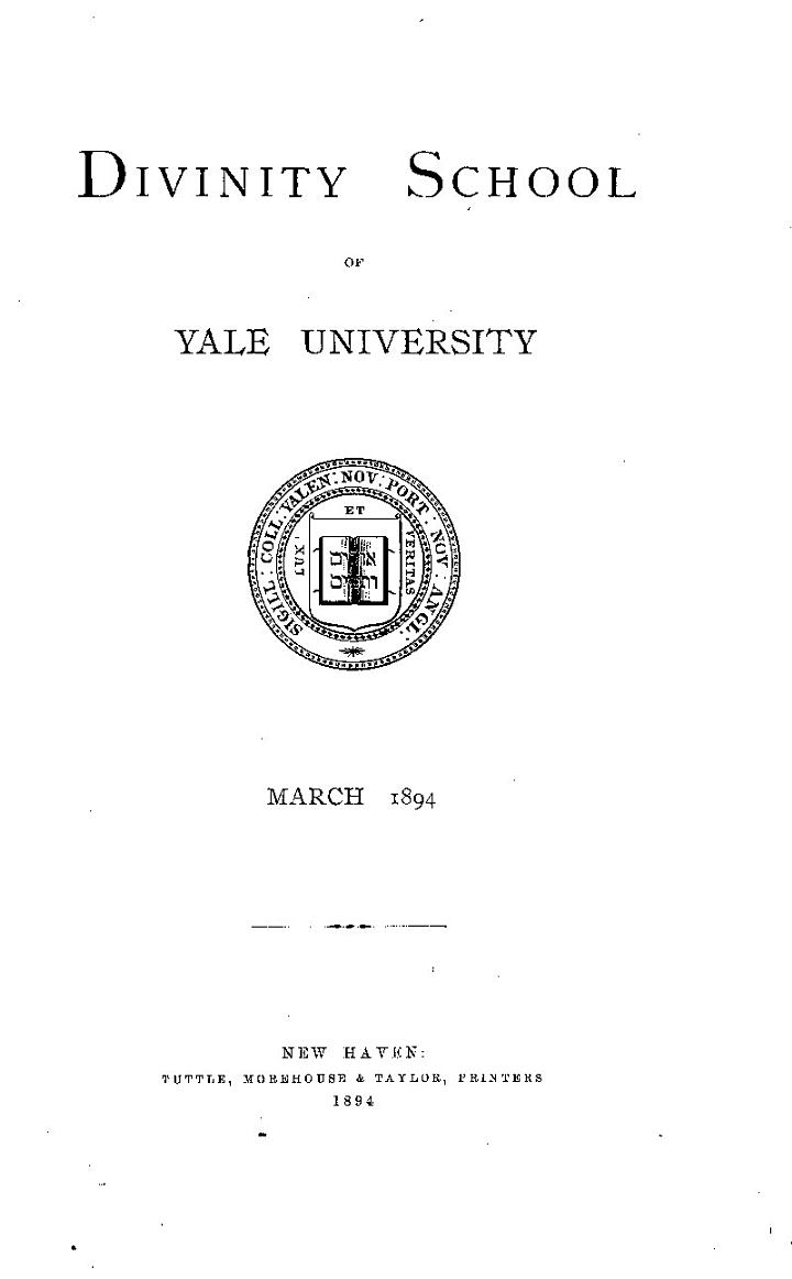 Catalogue of the Foreign Mission Library of the Divinity School of Yale University, New Haven, Conn