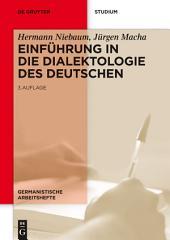 Einführung in die Dialektologie des Deutschen: Ausgabe 3