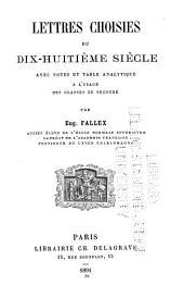Lettres choisies du dix-huitième siècle
